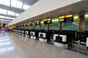 Check-in counters at Terminal 2