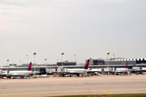 Delta aircraft at its hub in Minneapolis
