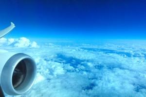 Dreamliner in flight.