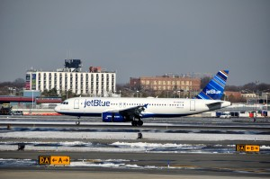 A JetBlue aircraft in New York