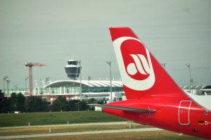 An Air Berlin aircraft in Munich