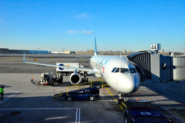 A new American Airlines A321 aircraft
