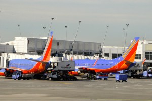 Southwest planes in Seattle