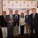 Frequent Business Traveler staff at the GlobeRunner Awards in New York City.  (L-R) David Goldes, Publisher and COO; Jonathan Spira, Editorial Director; Ken Lacy, Vice Chairman and CMO; Karin Sun, Assistant Editor; Jeremy Del Nero, Tech Editor; Jesse Sokolow, Associate Editor.