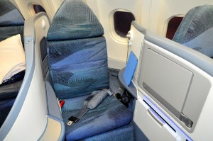 A Boeing 777 seat