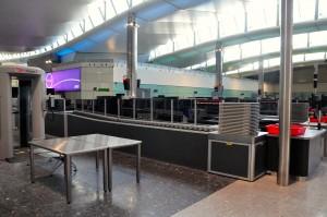 Security checkpoint at London Heathrow's Terminal 2