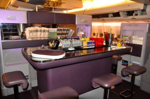 Virgin Atlantic's bar on a 747-400