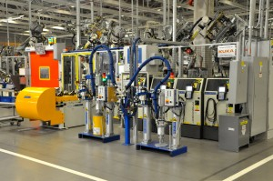 Kuka robots at Volkswagen's Chattanooga plant