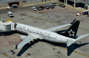 A Copa Airlines plane in Star Alliance livery at JFK
