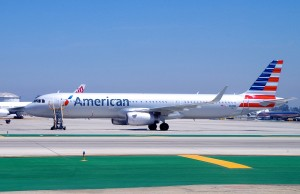 American Airlines plane at LAX