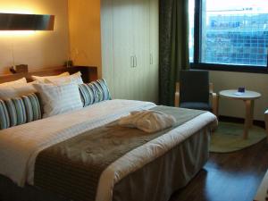 A Hilton hotel room
