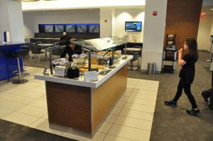 Food selection at LaGuardia's Delta Sky Club
