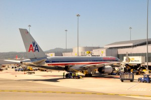 An American Airlines plane at JFK