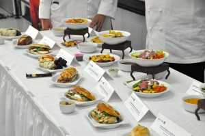 Some of United's new menu items, unveiled by the airline's executive chefs on Thursday