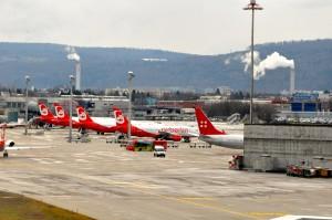 Air Berlin aircraft in Zurich