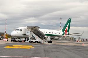 An Alitalia plane in Rome