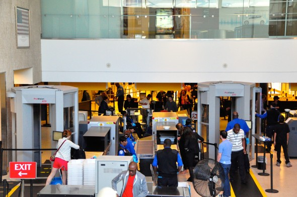 Security checkpoint at Terminal 7 at JFK