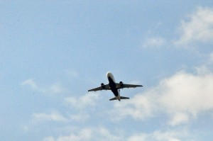 A Delta plane taking off from LaGuardia