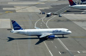 A JetBlue A320 at JFK