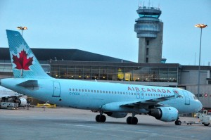 An Air Canada plane in Montreal