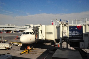 A Delta plane at LaGuardia Airport