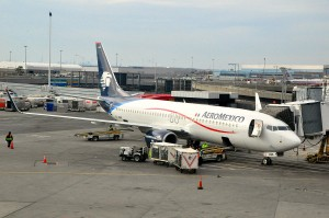 Aeromexico aircraft in New York