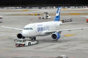A Finnair plane in Zurich
