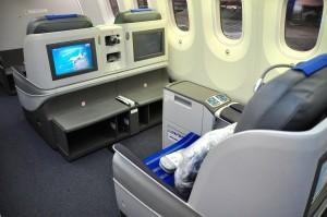 Business class on an LOT Dreamliner