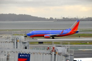 Southwest aircraft in San Francisco
