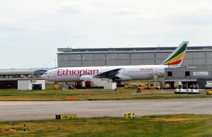 An Ethiopian 777 in London