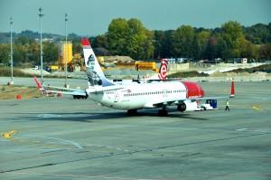 A Norwegian plane in Kraków