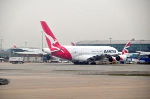 A Qantas A380 in London