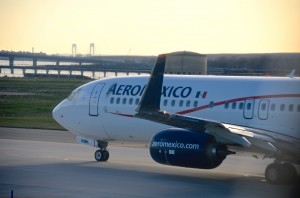 An Aeromexico jet in New York