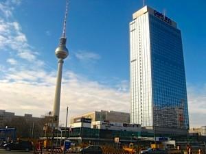 The Fernsehturm in Berlin