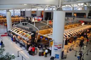 Passengers in Terminal 1 at JFK