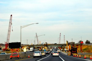 Construction for the N.J. Turnpike lane-expansion project