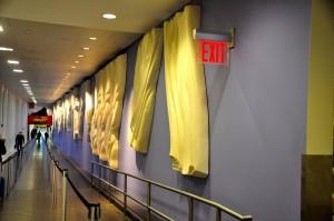 Walkway to passport control at JFK's Terminal 4