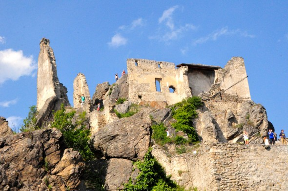 The ruins of the castle where Richard the Lionhearted was held captive in Dürnstein
