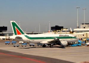 Alitalia plane in Amsterdam