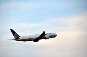 United plane taking off from Newark Liberty