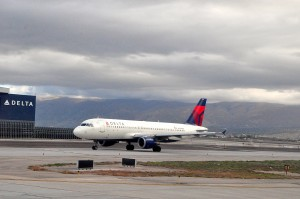 Delta aircraft in Salt Lake City