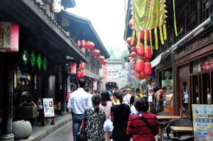 A street in Chengdu, China