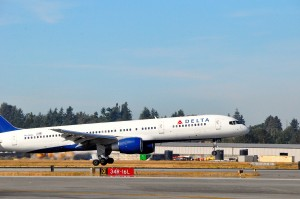 Delta aircraft in Seattle