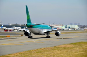 An Are Lingus plane at JFK
