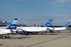 JetBlue planes in Washington, D.C.