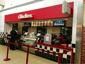 Checkers restaurant at ATL earlier in the week
