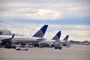 United planes in Chicago