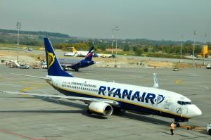 Ryanair plane in Krakow