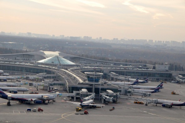 Moscow's Sheremetyevo International Airport from the air