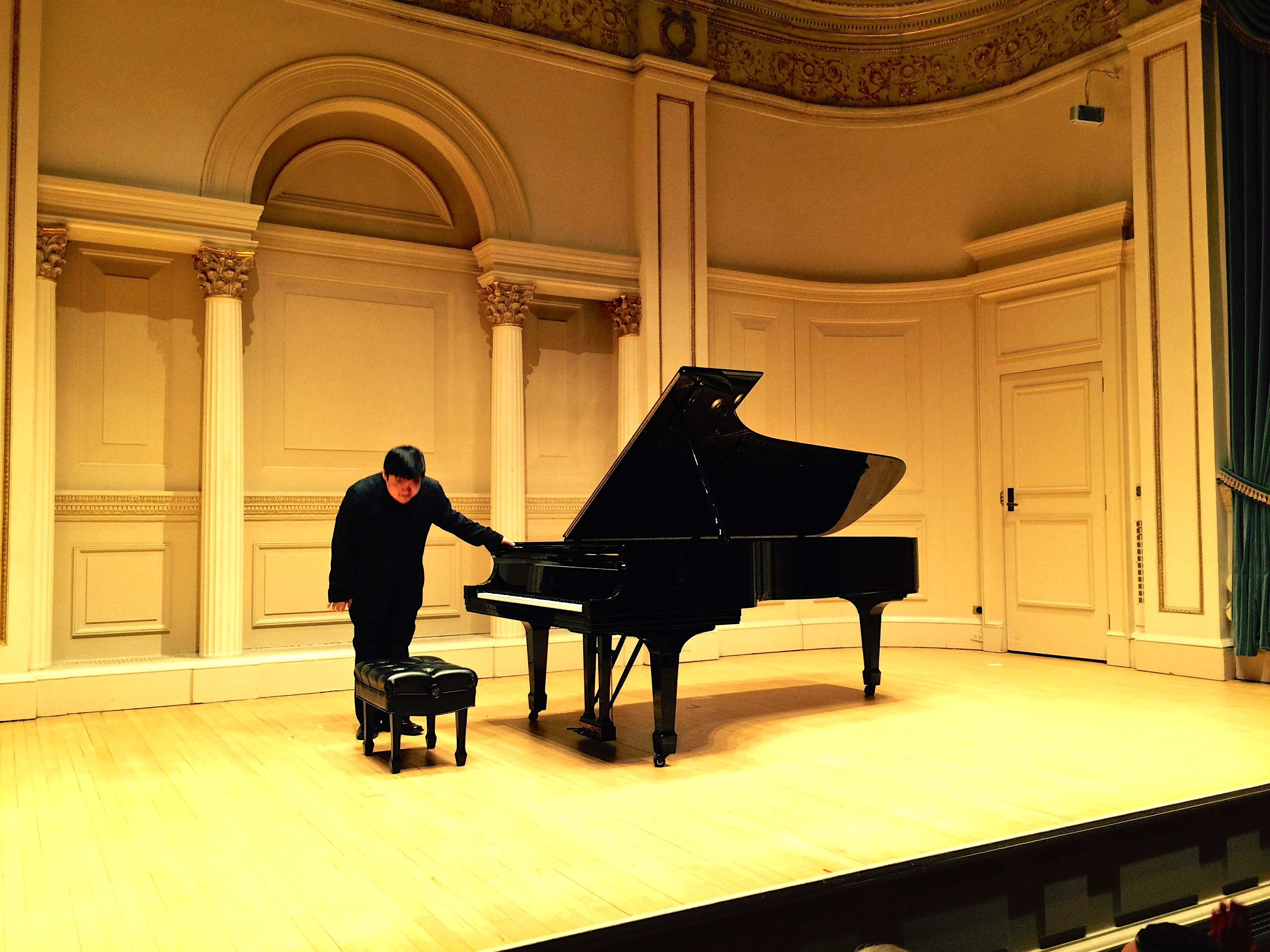 Moye Chen performing at Carnegie Hall's Weill Recital Hall on Monday